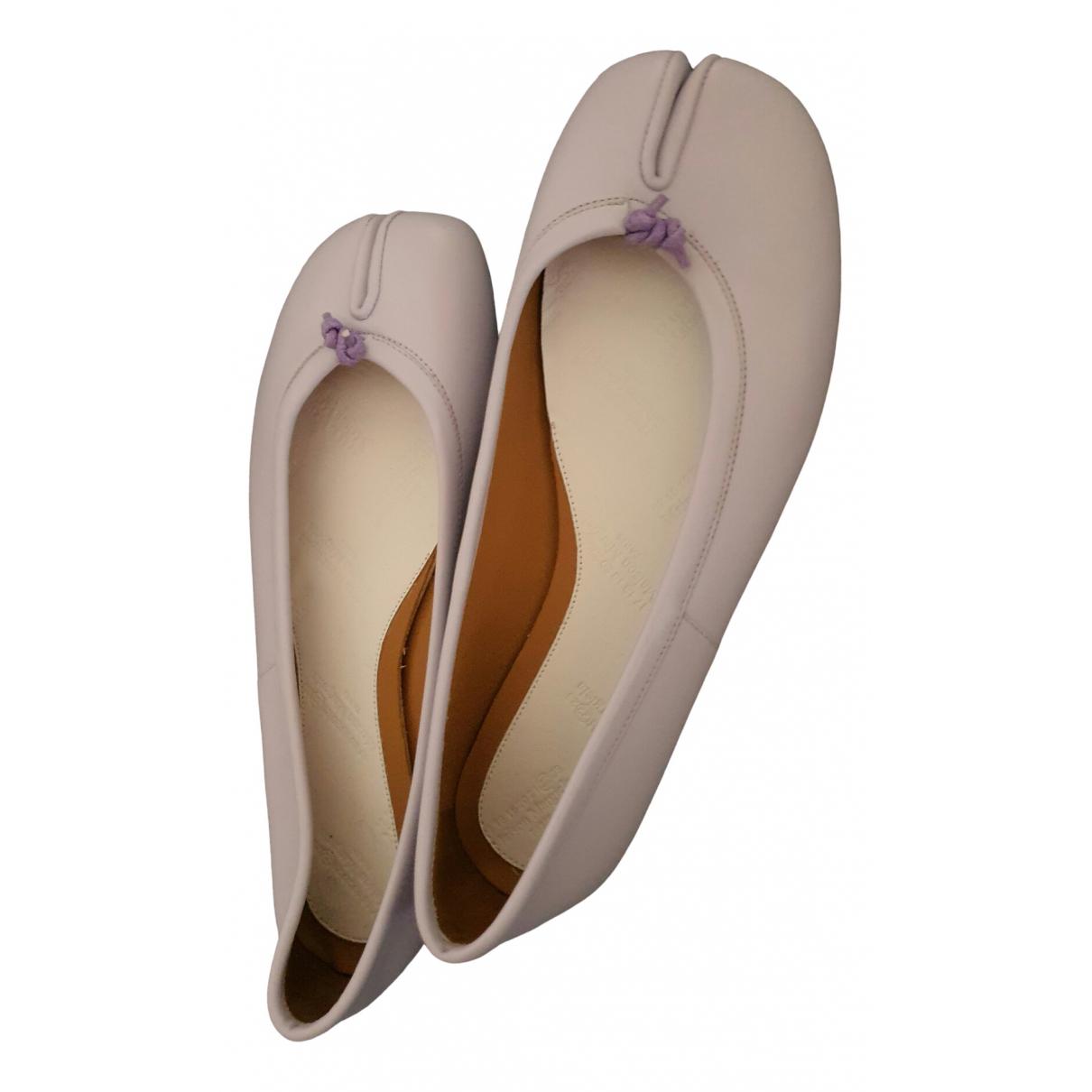 Maison Martin Margiela \N Ballerinas in  Lila Leder