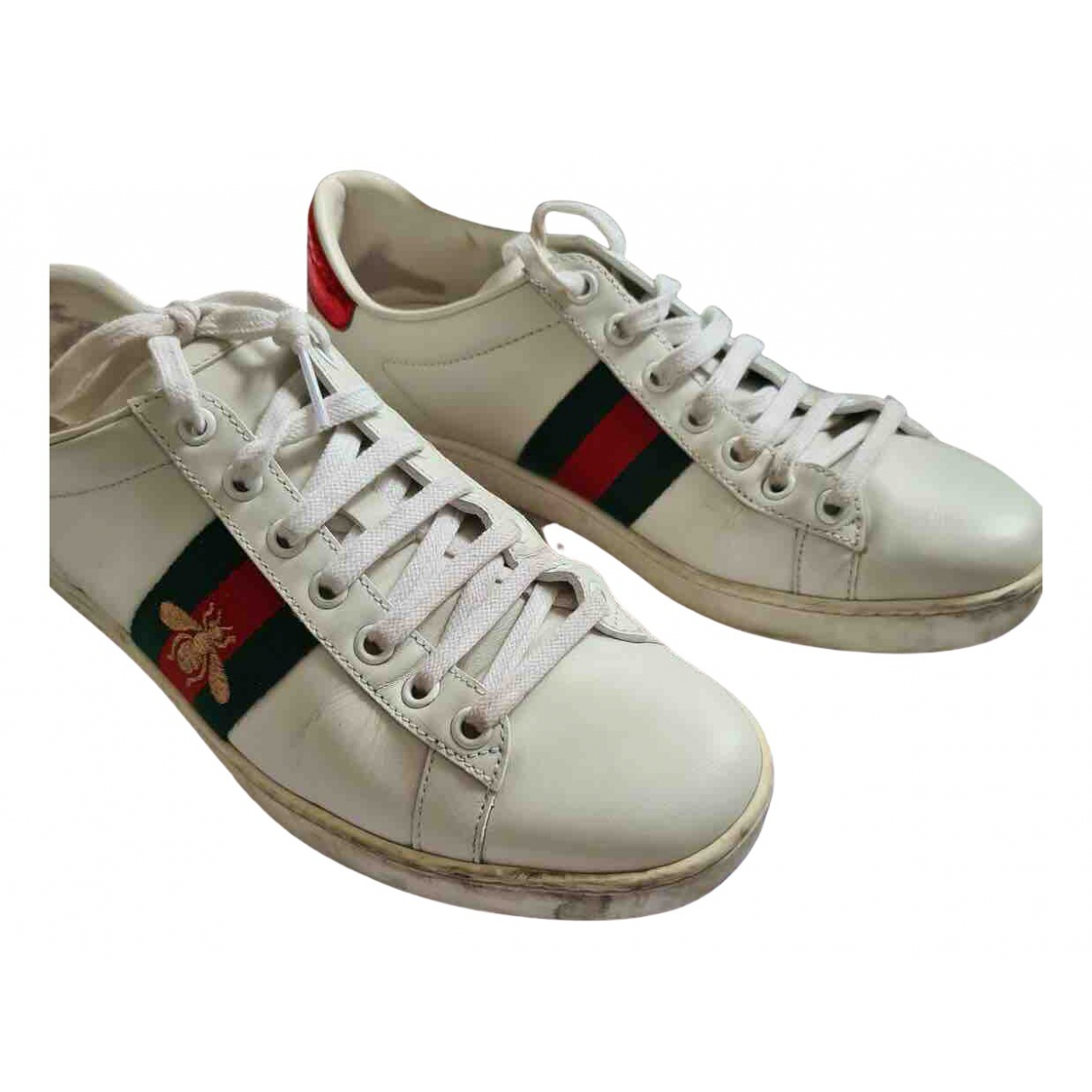 Gucci Ace White Leather Trainers for Women 5 UK