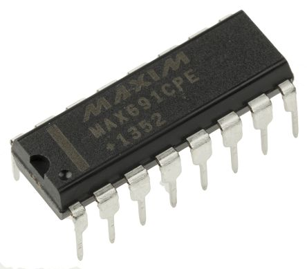 Maxim Integrated MAX691CPE+, Processor Supervisor 4.65V , WDT 16-Pin, PDIP (25)