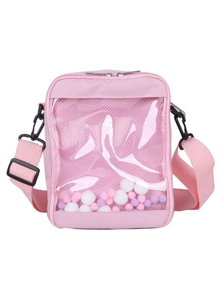 Milanoo Sweet Lolita Bag Transparent Anime Badge Cross Body Bag