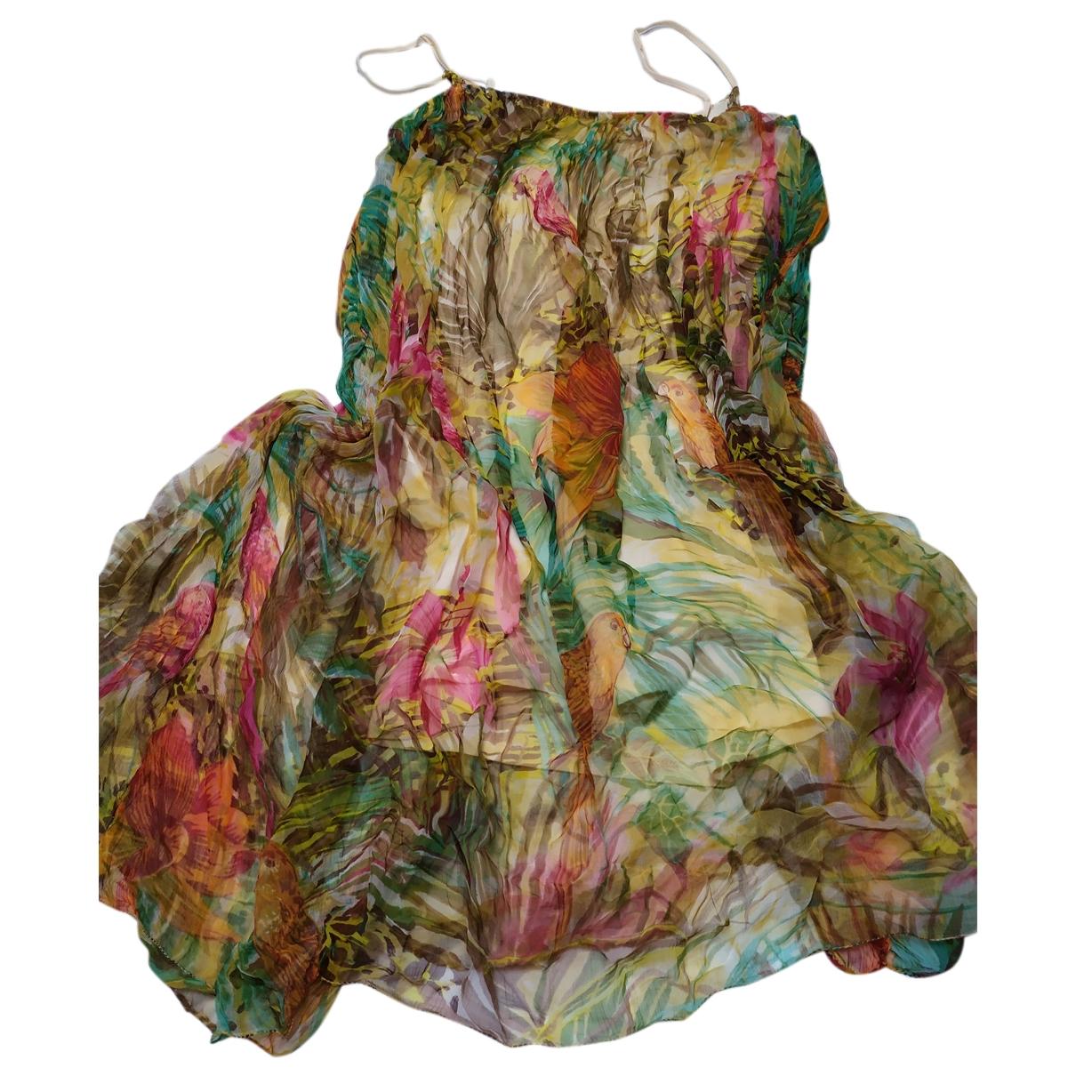 Non Signé / Unsigned \N Multicolour Cotton - elasthane dress for Women 48 FR