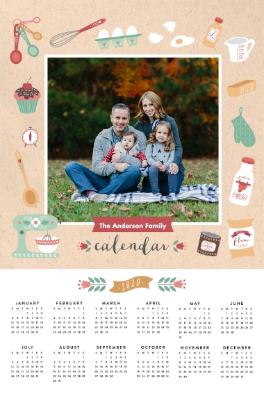 Calendar 24x36 Poster , Home Décor -Seasonally Sweet