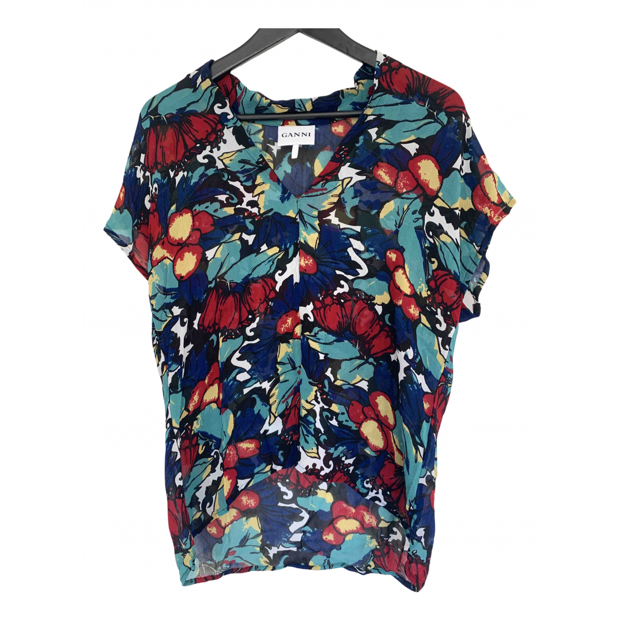 Ganni - Top   pour femme - multicolore