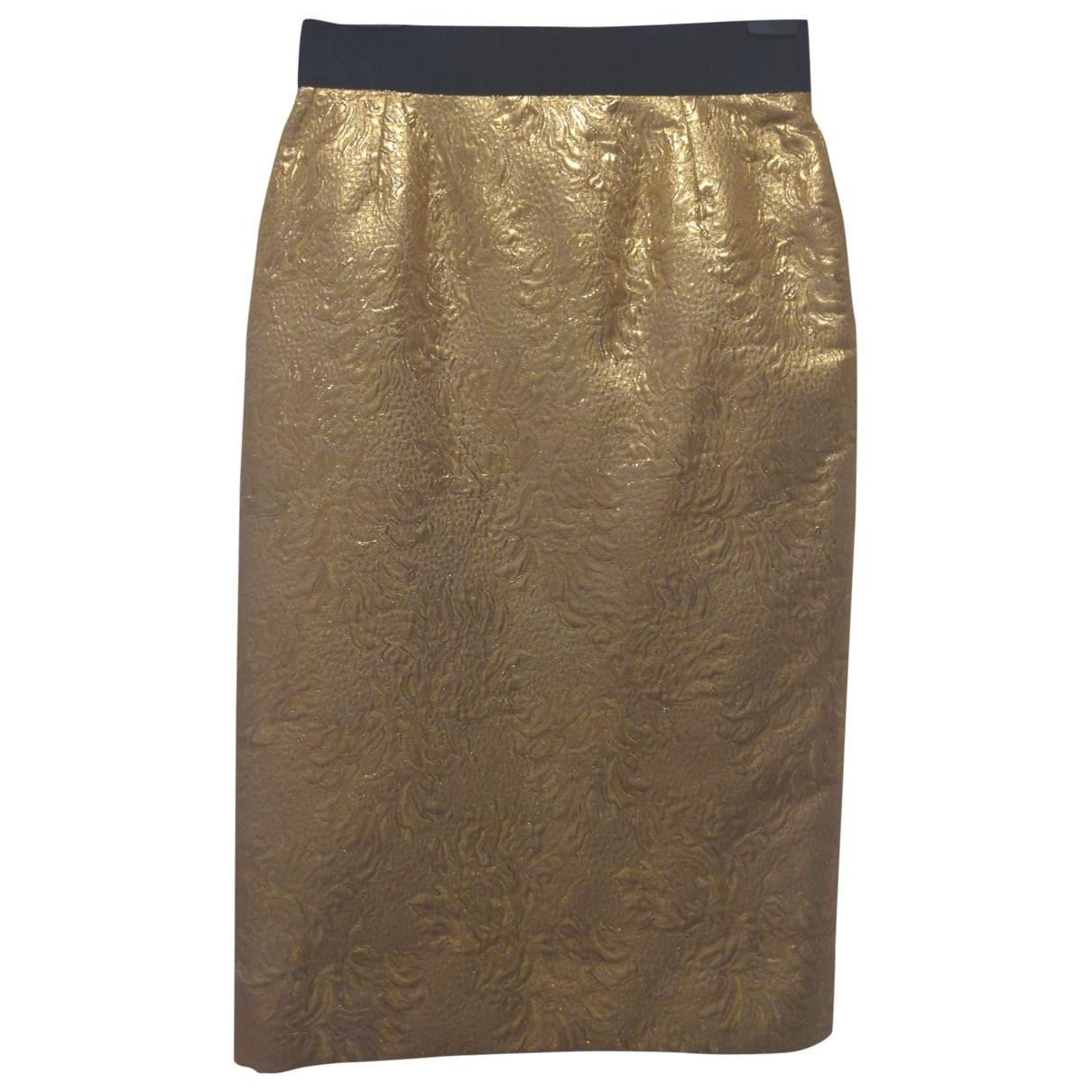 Dolce & Gabbana - Jupe   pour femme en soie - dore