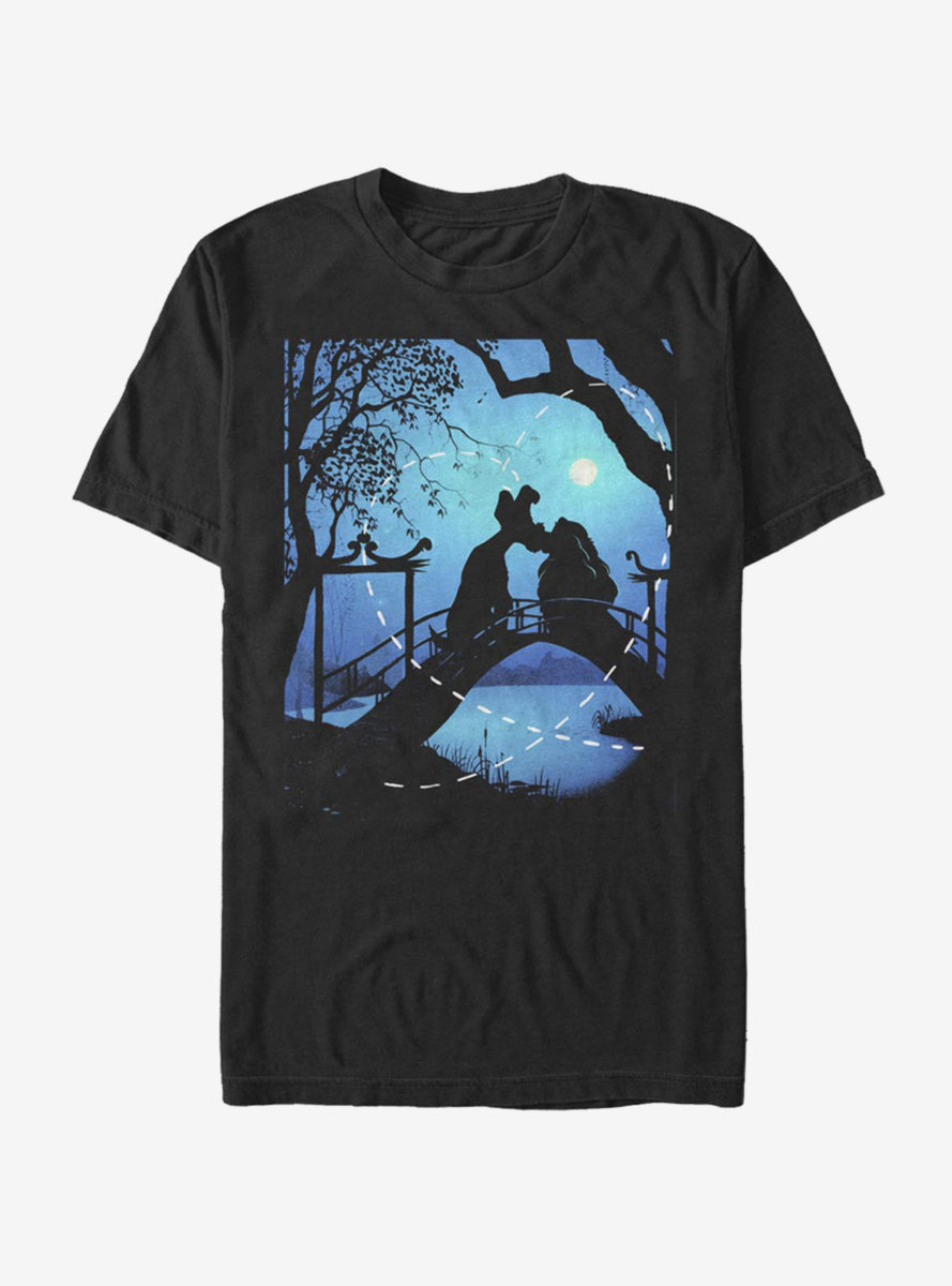 Disney Lady And The Tramp Silhouette Love T-Shirt