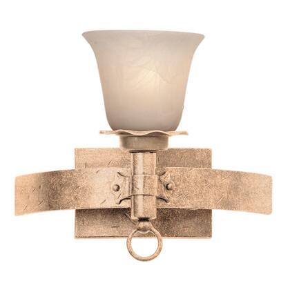 Americana 4201MG/NS01 1-Light Bath in Modern Gold with Buddha Leaf Natural Bowl Glass