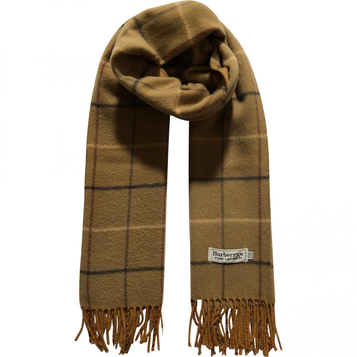Burberry - Foulard   pour femme en cachemire - marron
