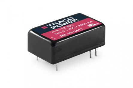 TRACOPOWER TEL 10 10W Isolated DC-DC Converter Through Hole, Voltage in 36 → 75 V dc, Voltage out ±12V dc