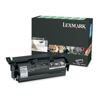 Lexmark X651A11A cartouche de toner du programme retour originale noire