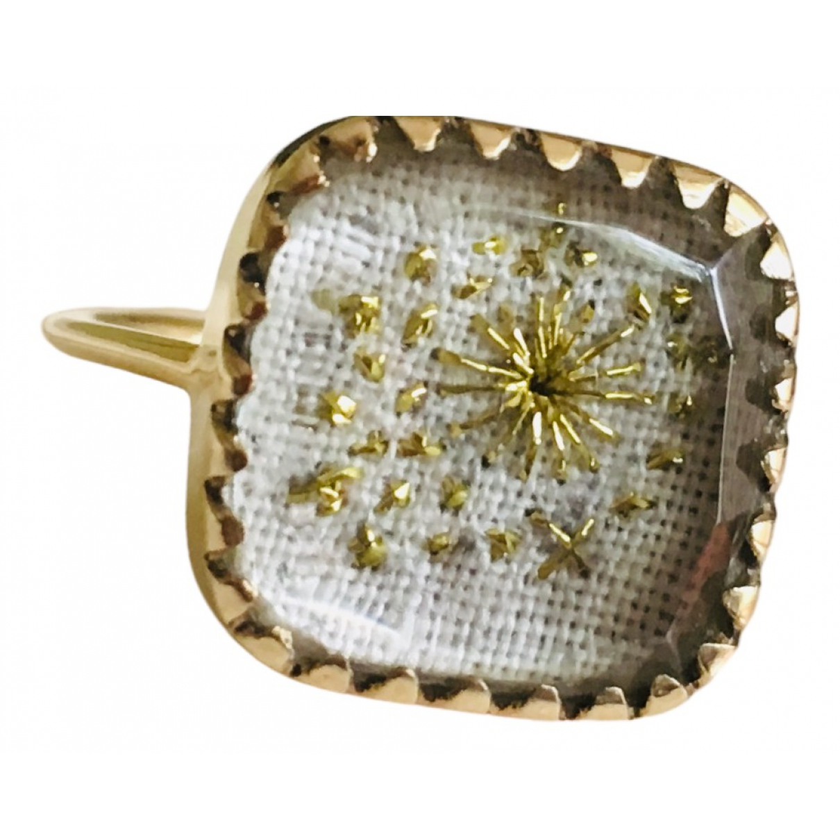 Pascale Monvoisin \N Ring in  Ecru Gelbgold