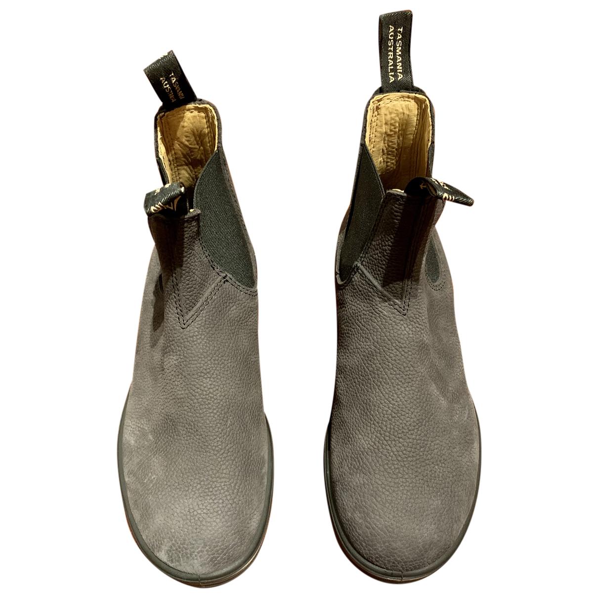 Blundstone - Boots   pour femme en cuir - gris