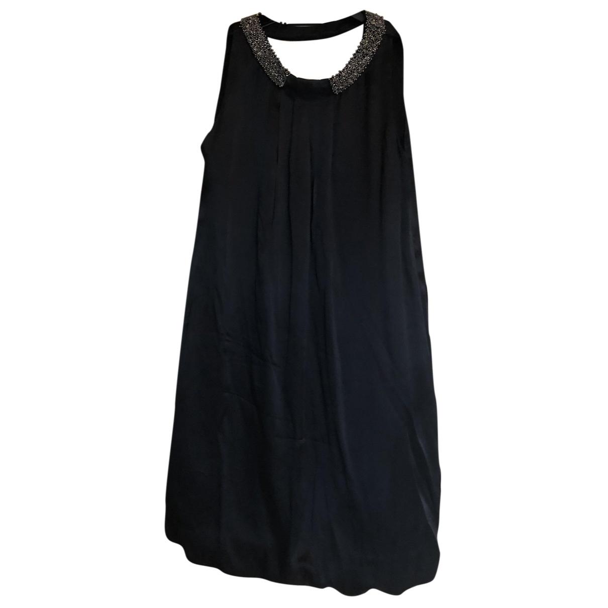 Massimo Dutti \N Black Silk dress for Women 8 US