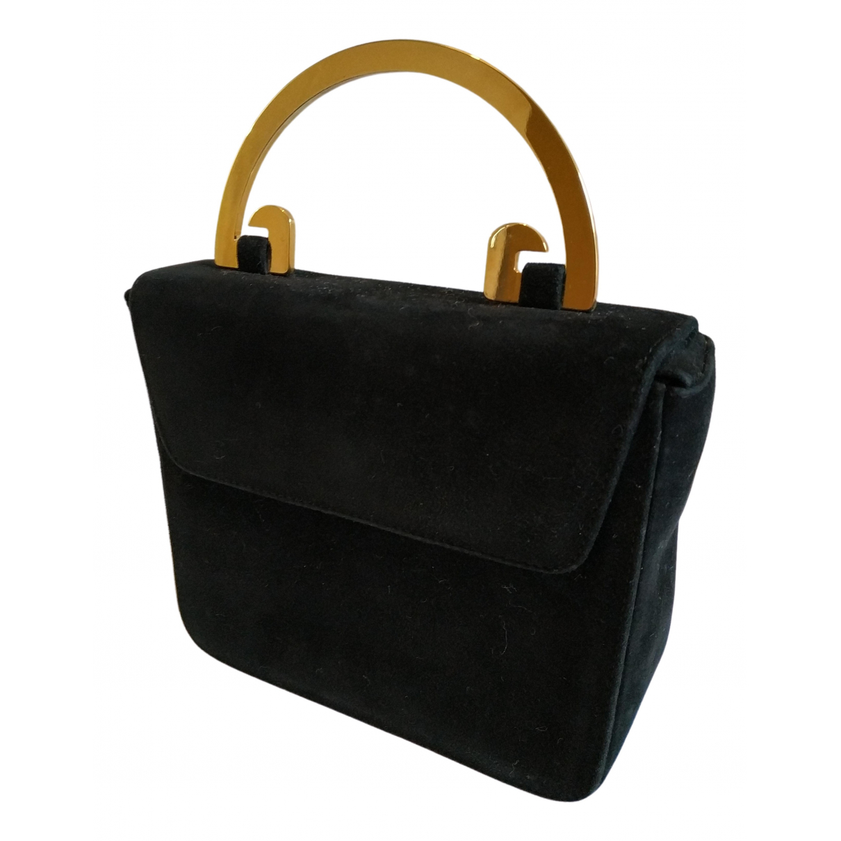 Elegance Paris \N Black Leather handbag for Women \N