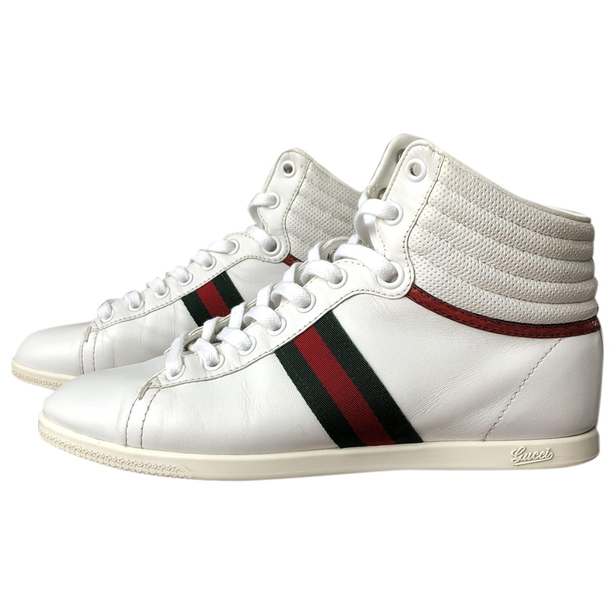 Gucci \N White Leather Trainers for Women 37 EU