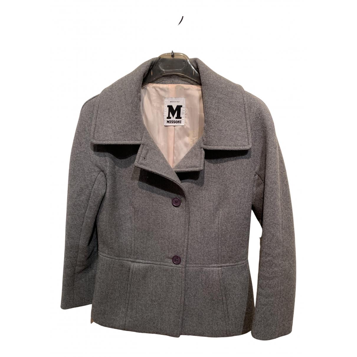 M Missoni \N Lederjacke in  Grau Wolle