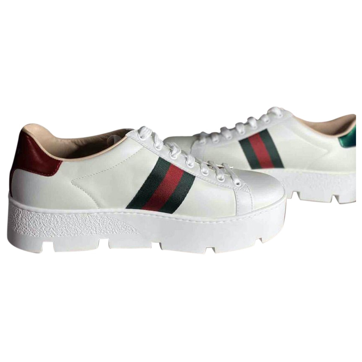 Gucci Ace White Leather Trainers for Women 40 EU
