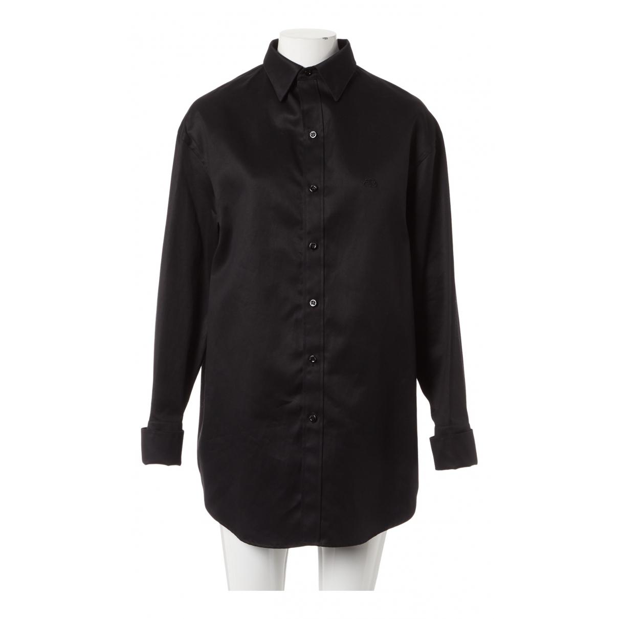 Balenciaga - Top   pour femme en coton - noir