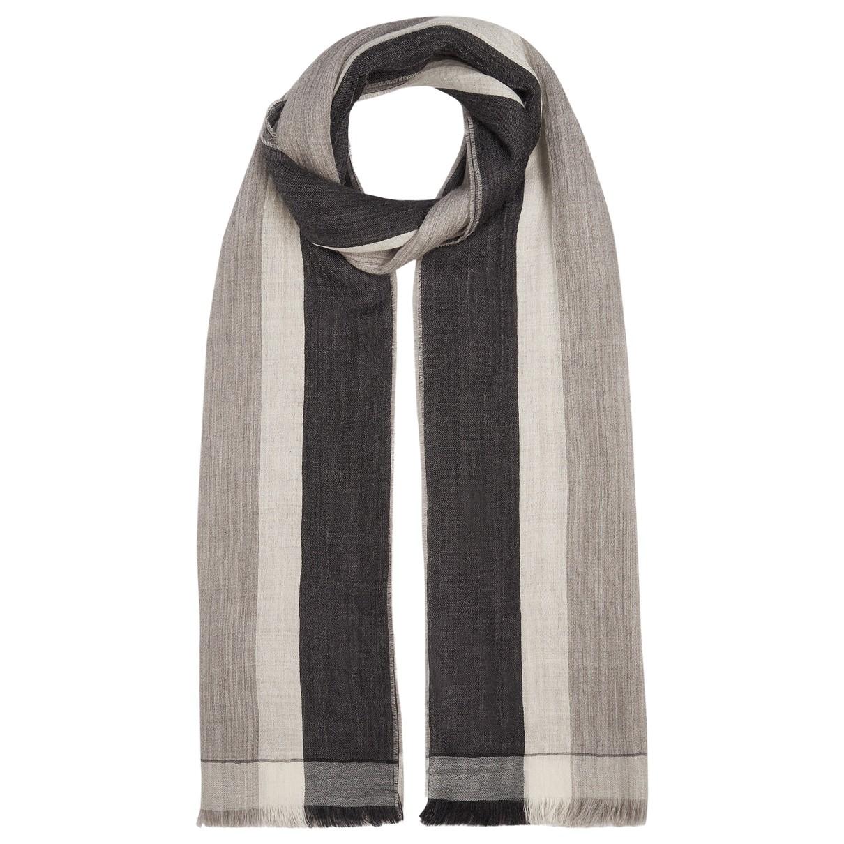 Max Mara Weekend - Foulard   pour femme en laine - gris