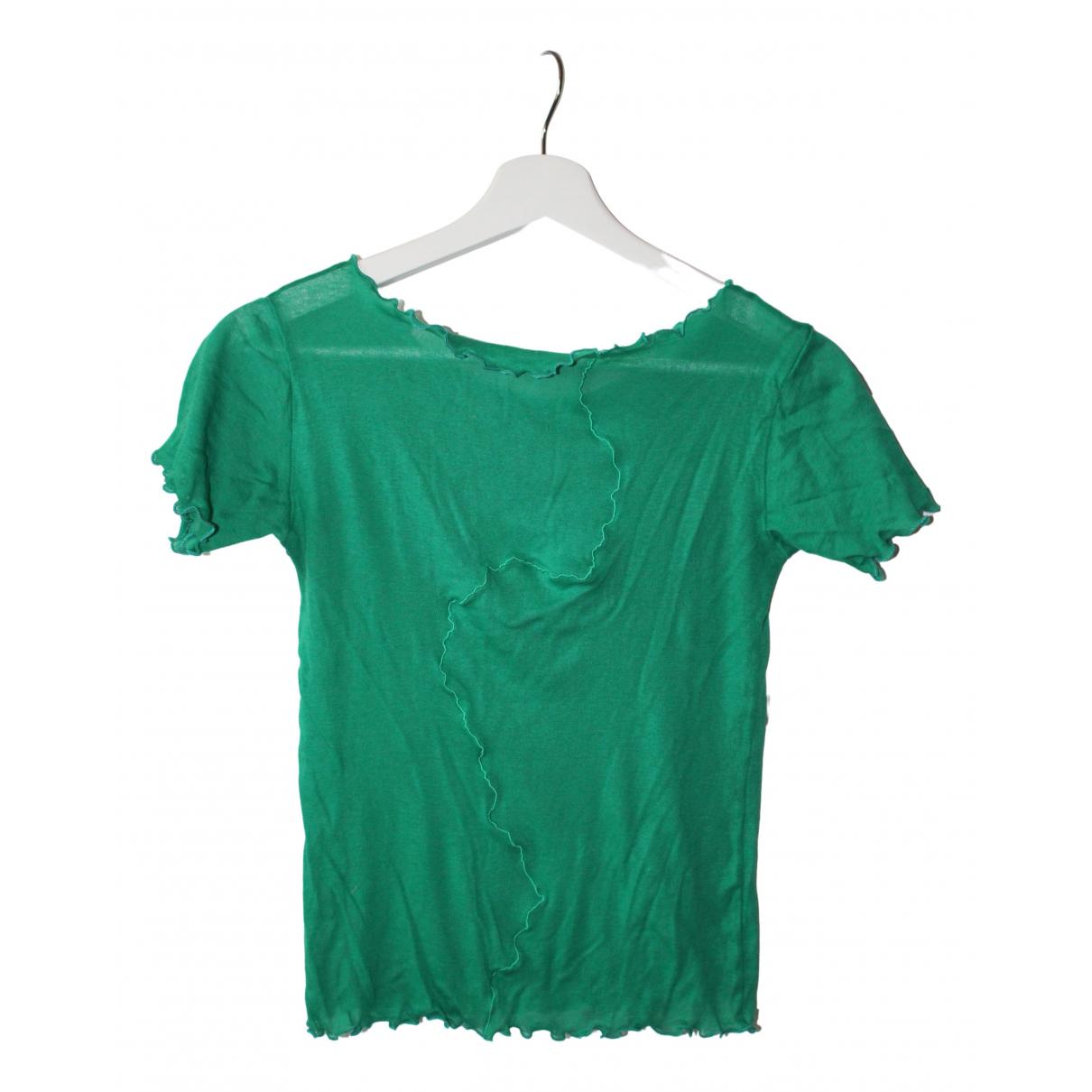 Baserange - Top   pour femme en coton - vert