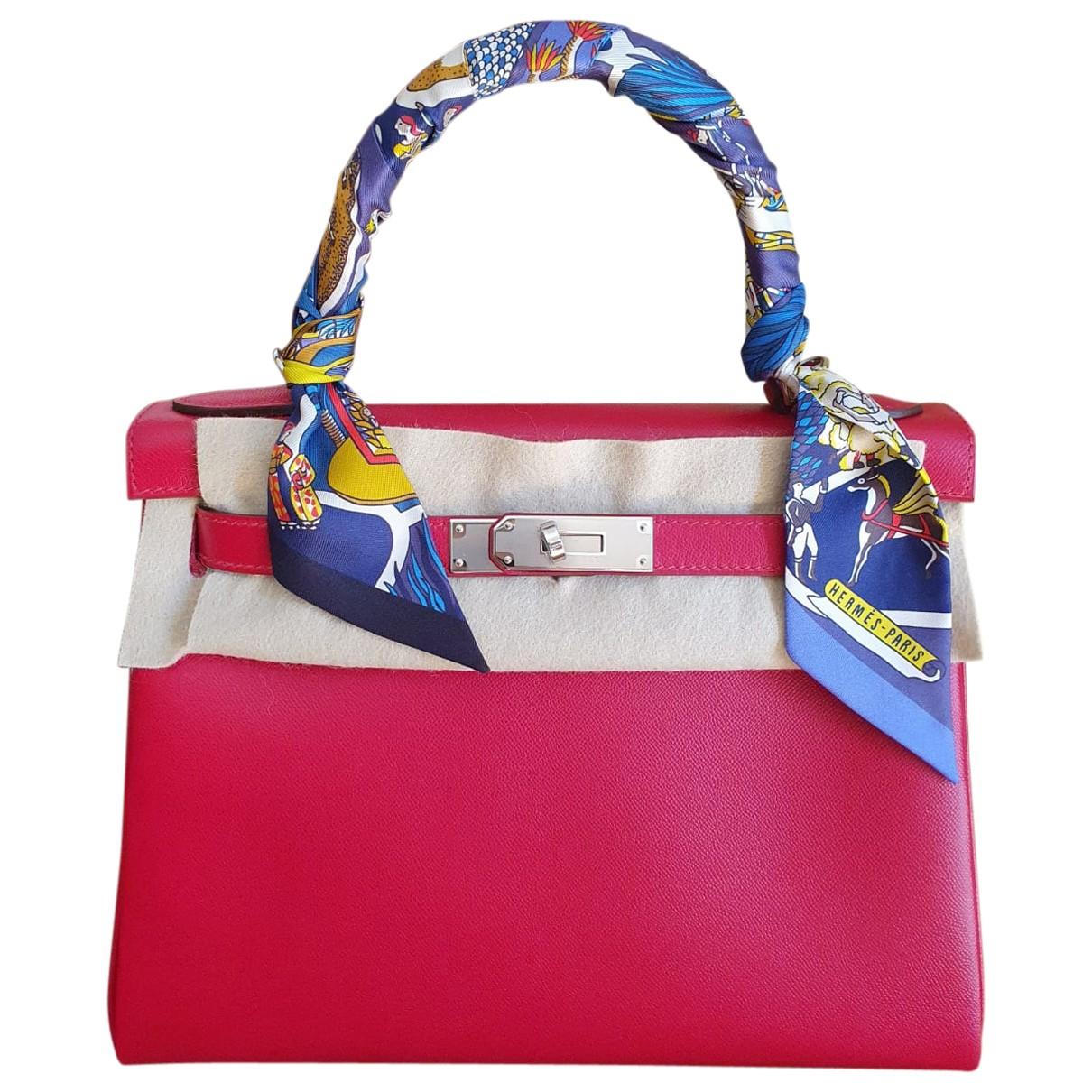 Hermès Kelly 28 Red Leather handbag for Women \N