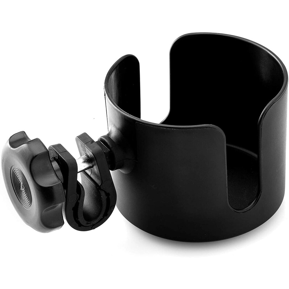 BodyHealt Adjustable Cup Holder - Black - For Walkers, Wheelchairs, Rollator & Knee Scooters - Exact Color (Exact Color)