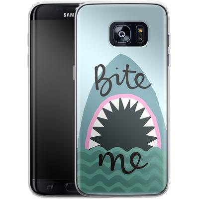 Samsung Galaxy S7 Edge Silikon Handyhuelle - Bite Me von caseable Designs
