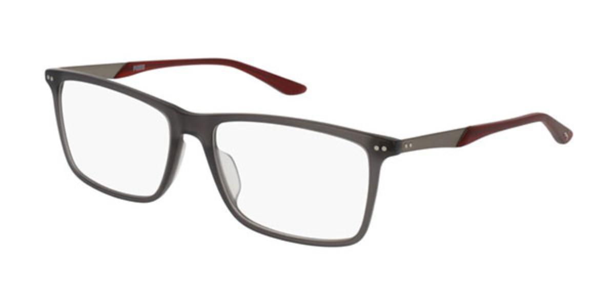 Puma PU0096O 008 Men's Glasses Clear Size 56 - Free Lenses - HSA/FSA Insurance - Blue Light Block Available