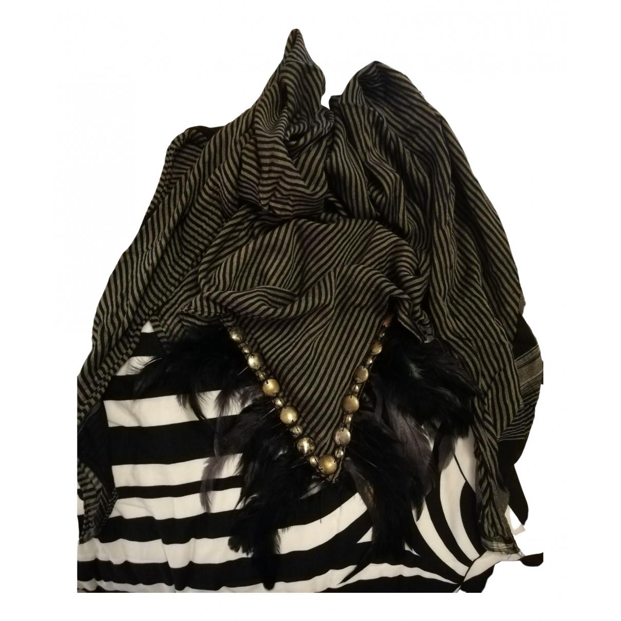 Zara \N Schal in  Grau Baumwolle