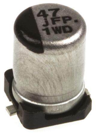 Panasonic 47μF Electrolytic Capacitor 6.3V dc, Surface Mount - EEEFPJ470UAR (5)