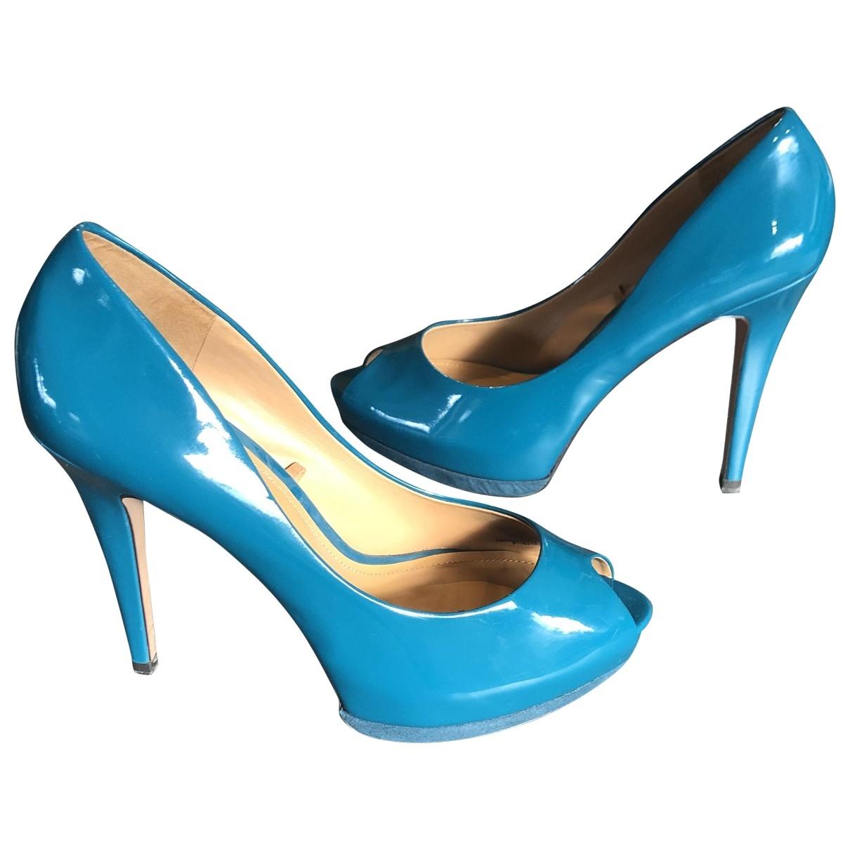 Zara \N Turquoise Patent leather Heels for Women 40 EU