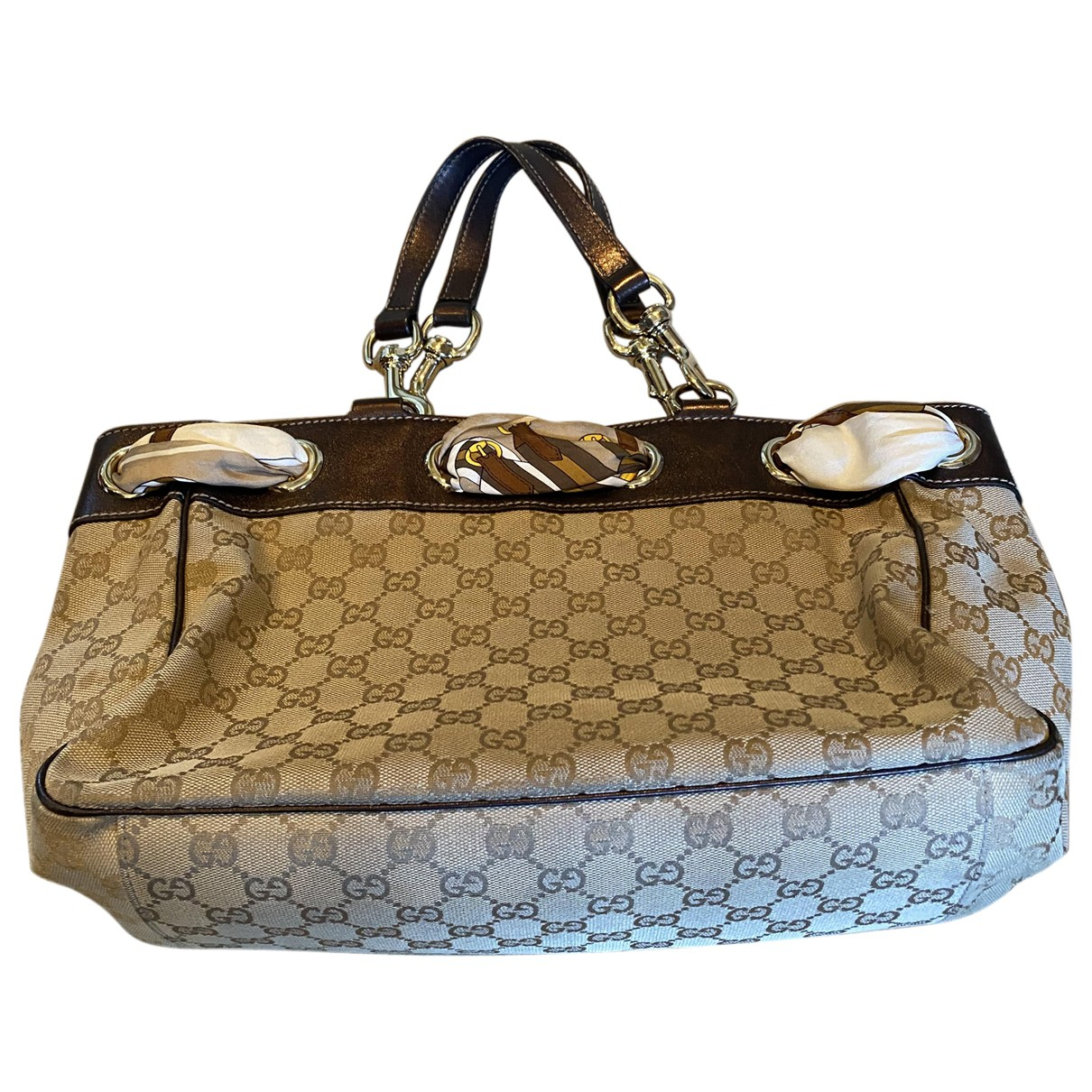 Gucci Positano Beige Cloth handbag for Women N