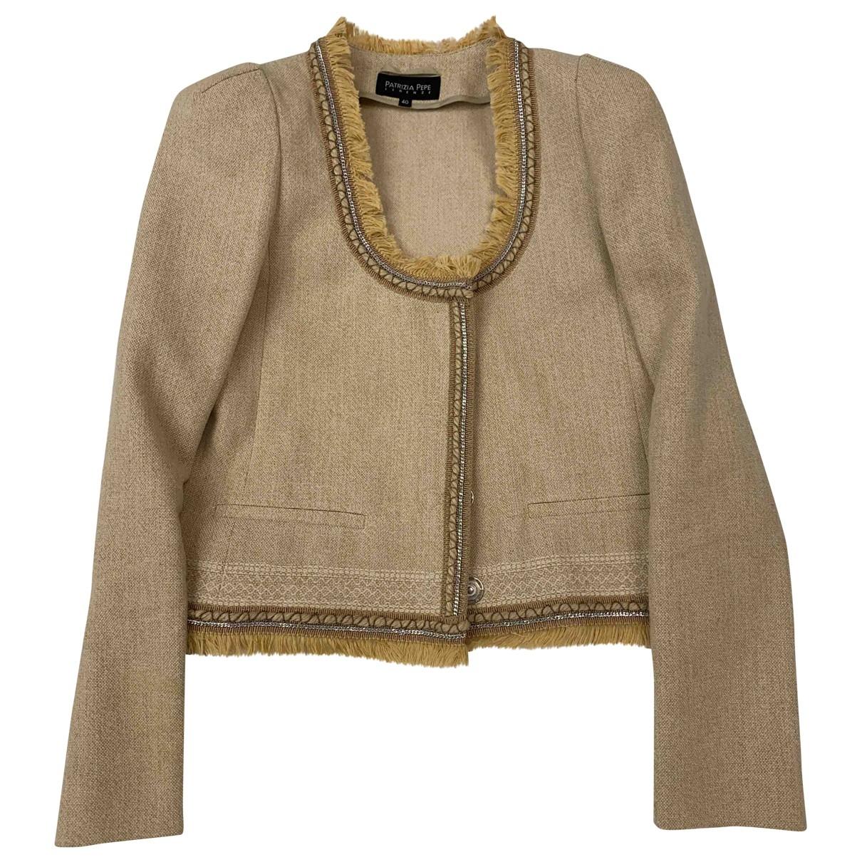 Patrizia Pepe - Veste   pour femme en coton - beige