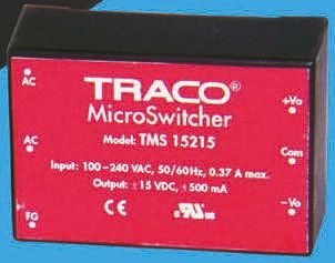 TRACOPOWER , 25W Embedded Switch Mode Power Supply SMPS, 15V dc, Encapsulated