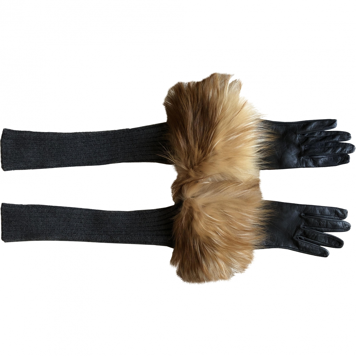Missoni \N Grey Leather Gloves for Women L International