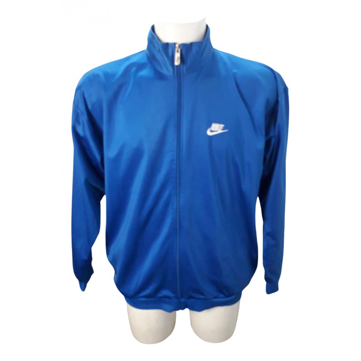 Nike \N Pullover.Westen.Sweatshirts  in  Blau Polyester