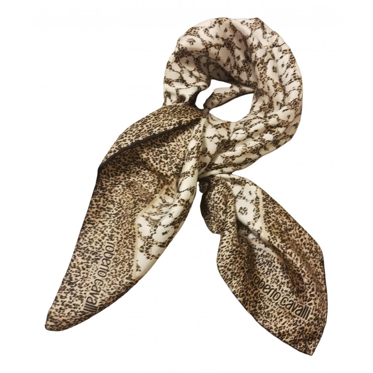 Roberto Cavalli N Beige Silk scarf for Women N
