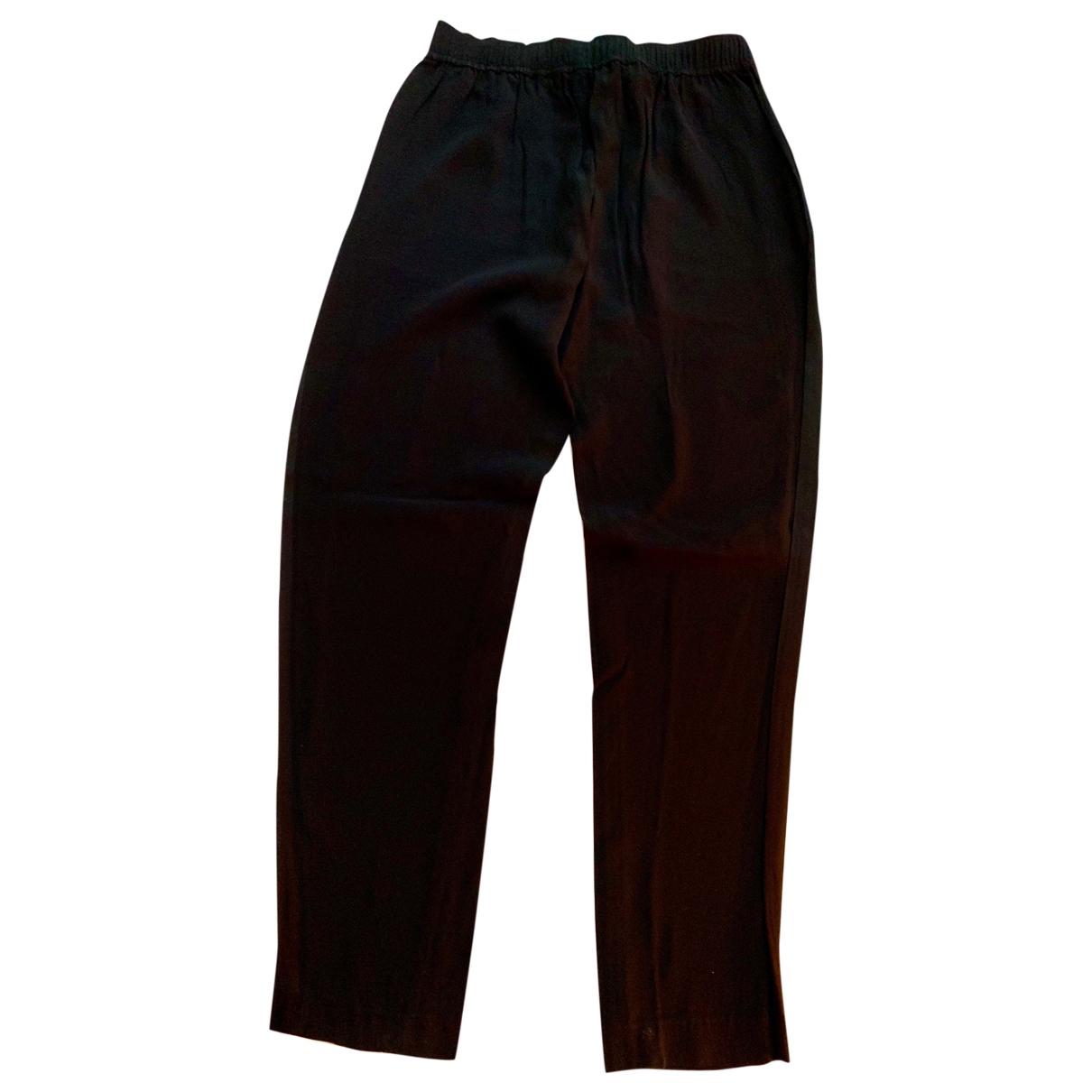 Pantalon en Sintetico Negro Sandro