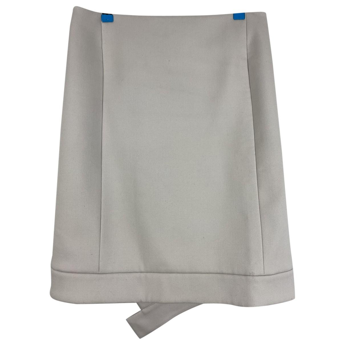 Celine - Jupe   pour femme en laine - beige