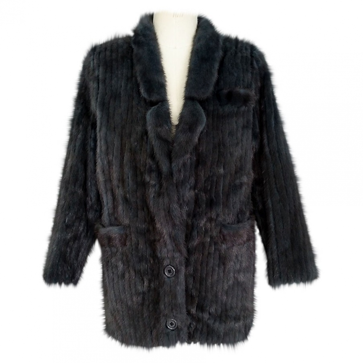 Non Signé / Unsigned \N Anthracite Mink jacket  for Men 46 IT