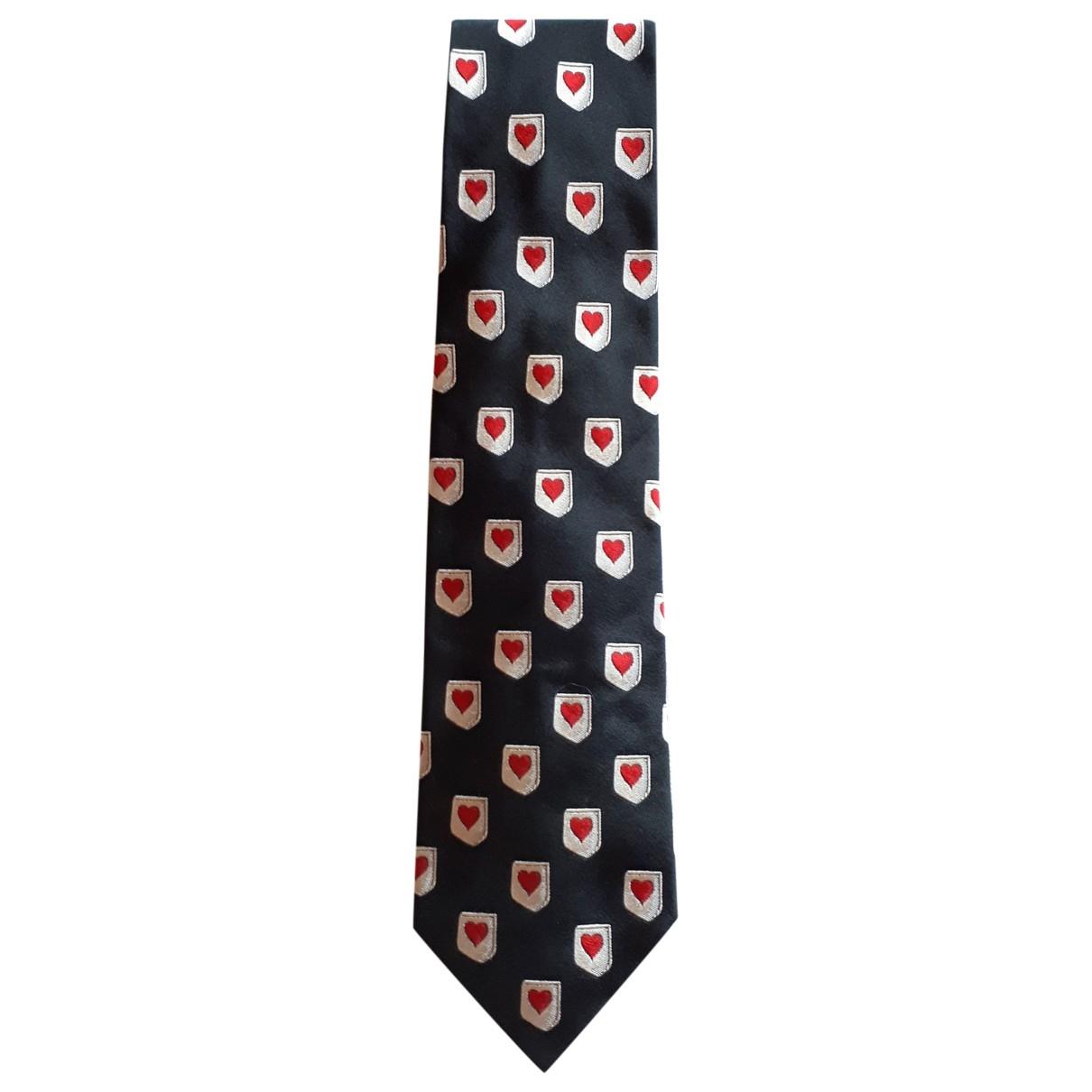 Jc De Castelbajac \N Black Silk Ties for Men \N