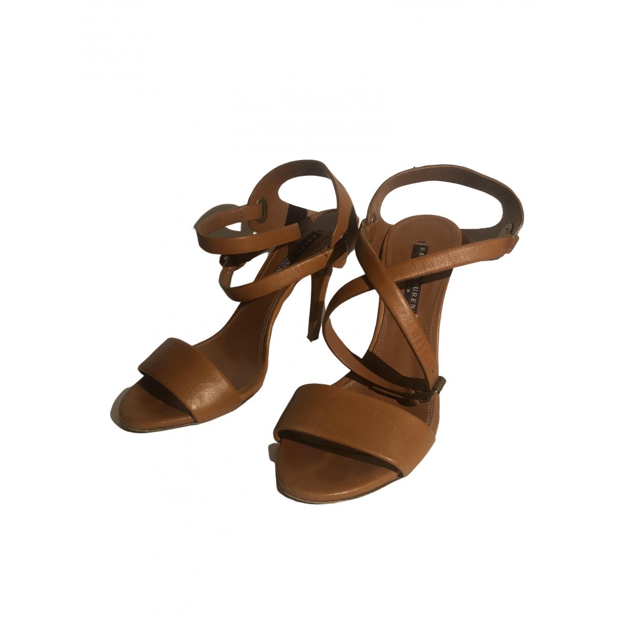 Ralph Lauren Collection \N Camel Leather Sandals for Women 37 EU