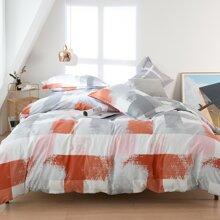 Set de cama con patron geometrico sin relleno