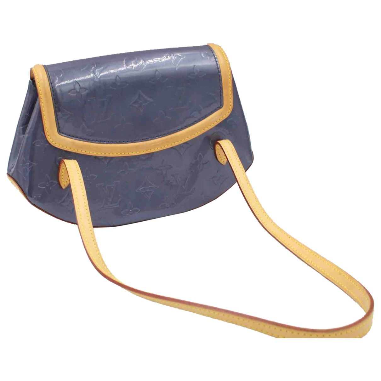 Louis Vuitton Biscayne Bay Purple Patent leather handbag for Women \N