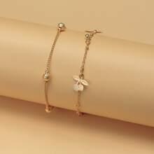 2 Stuecke Armband mit Kirsche Anhaenger