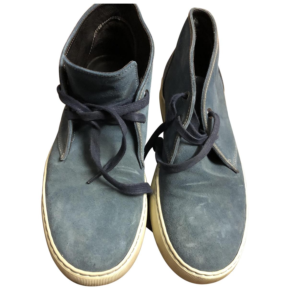 Lanvin \N Stiefel in  Blau Veloursleder
