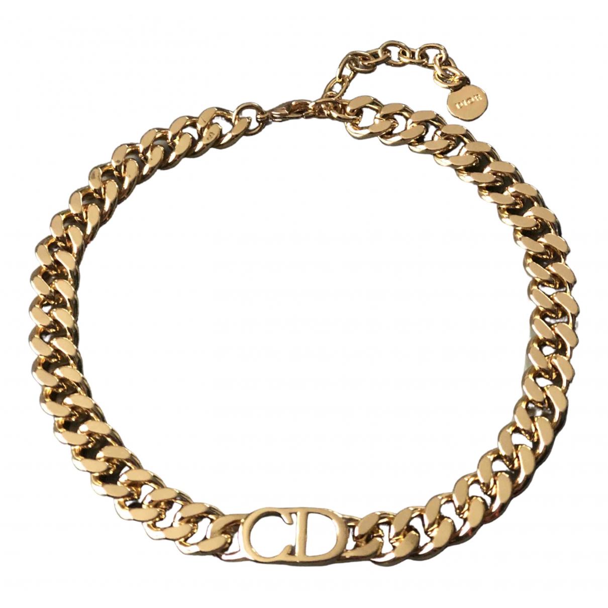Dior - Collier Monogramme pour femme en metal - dore