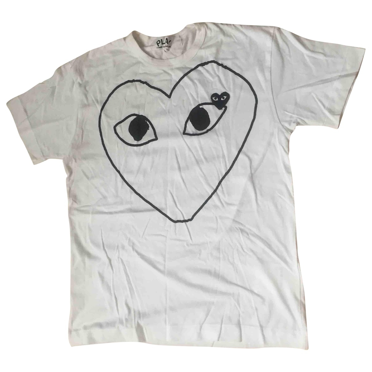 Play Comme Des Garcons \N T-Shirts in  Weiss Baumwolle