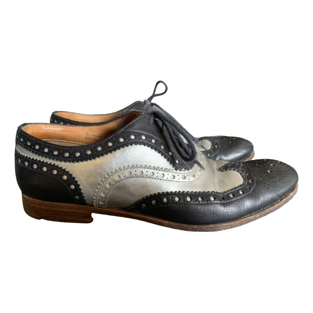 Church's \N Silver Leather Lace ups for Women 39 EU