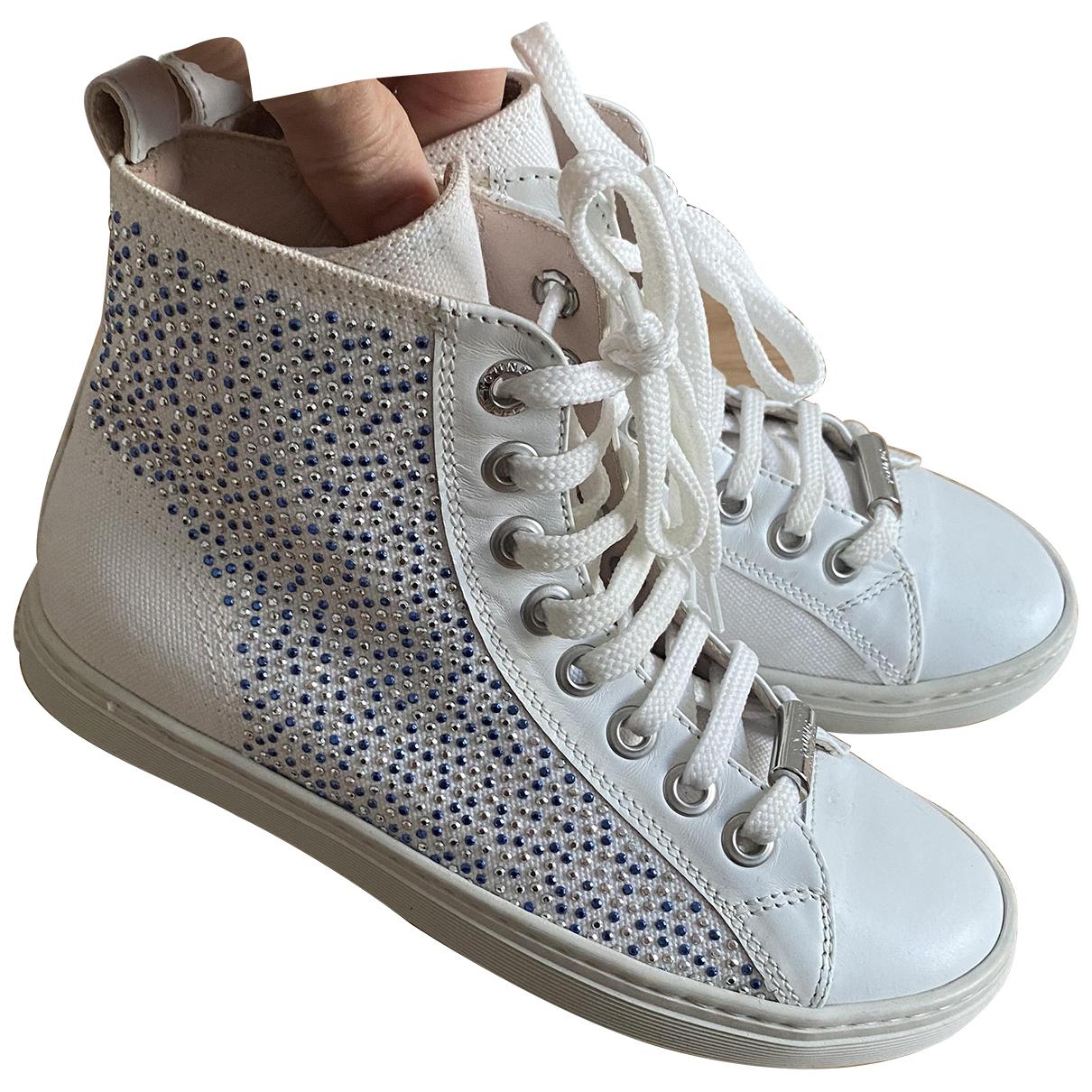 Versace \N Sneakers in  Weiss Leinen