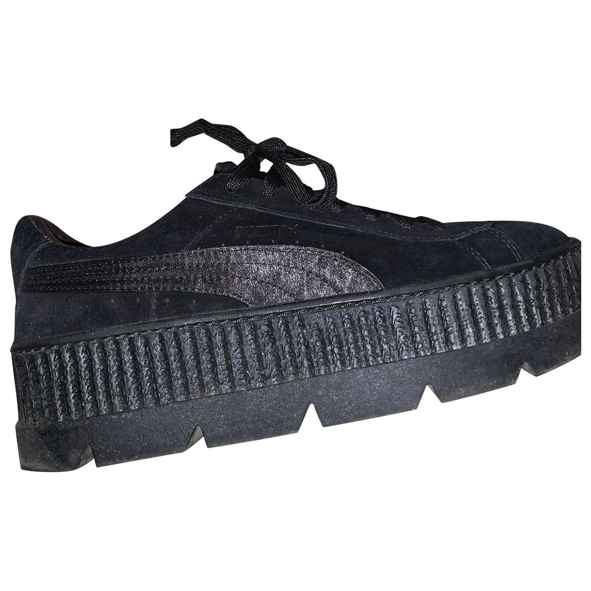 Fenty X Puma - Baskets   pour homme en cuir - noir
